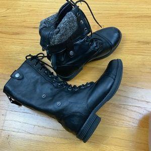 Madden Girl Zorrba Combat Boots Size 6.5 Black